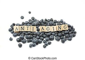 envelhecimento, mirtilos, anti