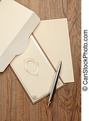 Envelop and blank card - Envelop and blank invitation card...