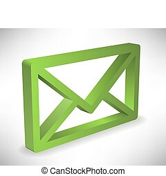 Envelop - Green envelop icon