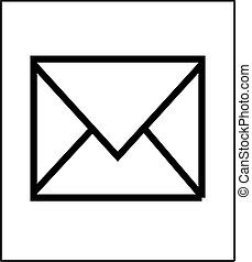 Envelop icon isolated. Vector illustration.