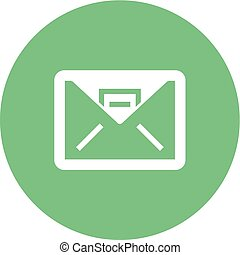 Envelop - Inbox, mail, message icon vector image. Can also ...