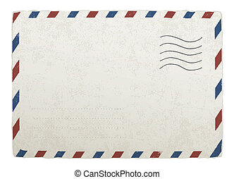 envelope., 10., weinlese, entwürfe, eps, vektor, schablone, ...