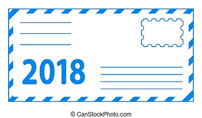 Envelope 2018 lettering