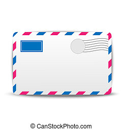 envelope air on a white background