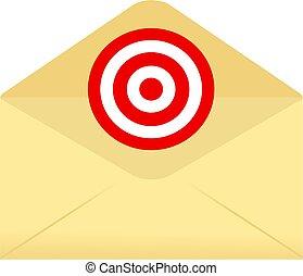 envelope, alvo