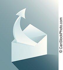 envelope and arrow design