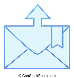 Envelope and arrow flat icon. Email blue icons in trendy flat style. Message departure gradient style design, designed for web and app. Eps 10.