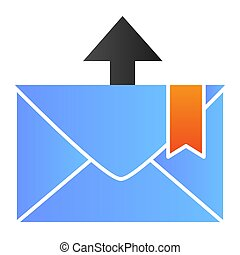 Envelope and arrow flat icon. Email color icons in trendy flat style. Message departure gradient style design, designed for web and app. Eps 10.