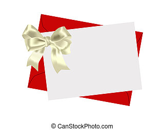 Envelope and bow