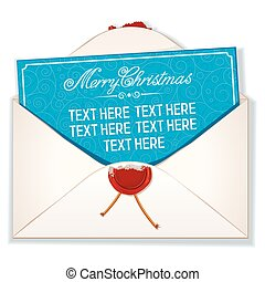 Envelope and Card Merry Christmas