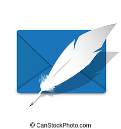 Envelope and feather