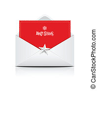 Envelope and red card