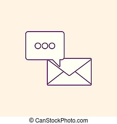 envelope and speech bubble