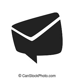 envelope bubble email message communication icon. Vector graphic