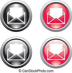 envelope button or icon