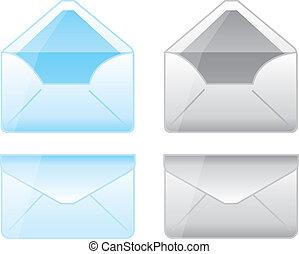 envelope cartoons - blue and gray envelope cartoons over...