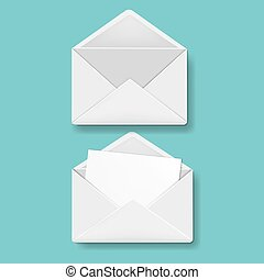 Envelope Collection Mint Background