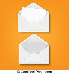 Envelope Collection Orange Background