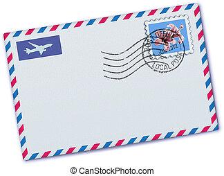 envelope, correio aéreo