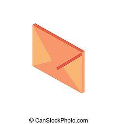 envelope correspondence postal mail isometric