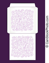 Envelope design with abstract ornament