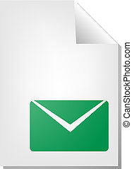 Envelope document icon - Letter envelope document file type...