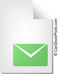 Envelope document icon - Letter envelope document file type ...