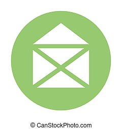 envelope email icon on white background