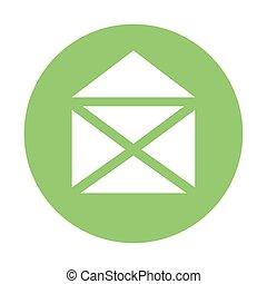 envelope email icon on white background