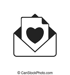 envelope email mail message icon. Vector graphic