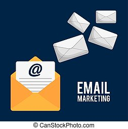 envelope email marketing send design.