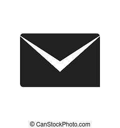 envelope email message communication icon. Vector graphic