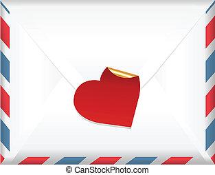 envelope, etiqueta