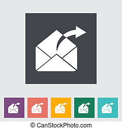 Envelope flat icon.