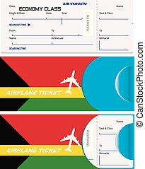 Envelope for ticket on Vanuatu airplane