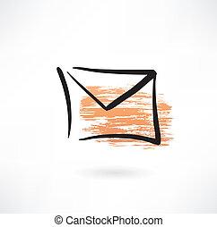 envelope grunge icon