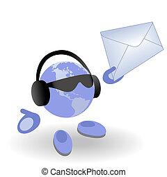 envelope, homem