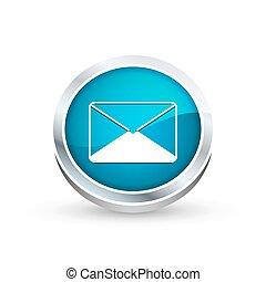 Envelope icon, button