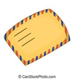 Envelope icon, cartoon style