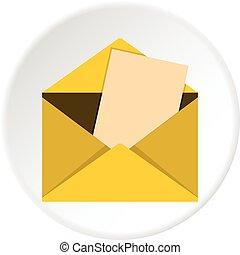 Envelope icon circle