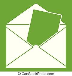 Envelope icon green