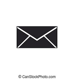 Envelope icon isolated. Email message letter symbol. Flat design. Vector Illustration