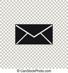Envelope icon isolated on transparent background. Email message letter symbol. Flat design. Vector Illustration