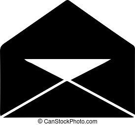 Envelope icon isolated on white background