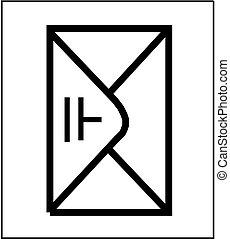 Envelope icon isolated.