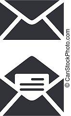 Envelope Icon Logo Template Illustration Design. Vector EPS 10.