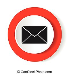 Envelope Icon . Mail symbol for your web site design