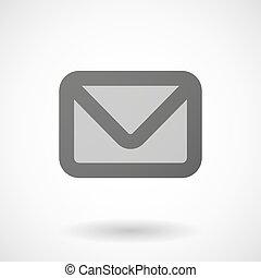 envelope icon on white background