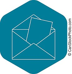 Envelope icon, outline style