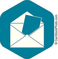 Envelope icon, simple style
